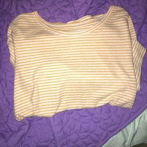 old navy yellow stripped shirts